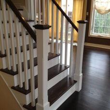 Best Red Oak Stair Tread Stained A Dark Ebony Colour Oak 400 x 300