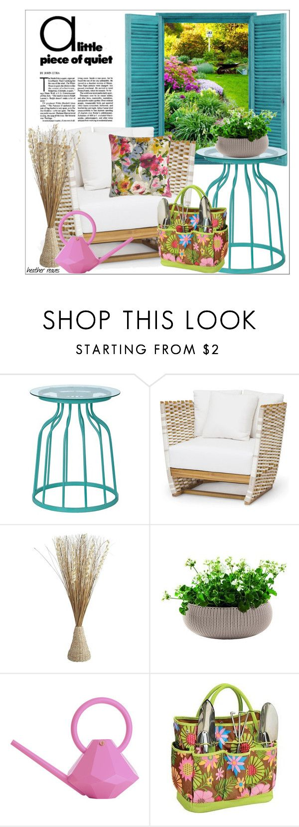"""""""Peace and Quiet"""" by heather-reaves ❤ liked on Polyvore featuring interior, interiors, interior design, home, home decor, interior decorating, Pier 1 Imports, Garden Glory, Picnic at Ascot and Eastern Accents"""