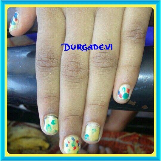 My daughter nail art