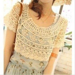 Elegant crochet top.