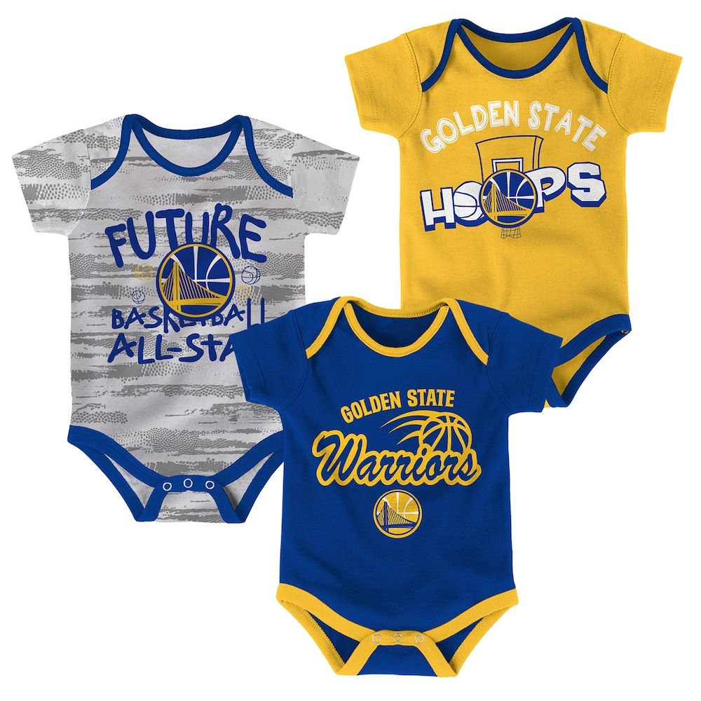 000810a5a59 Baby Golden State Warriors 3-Pack Bodysuit Set