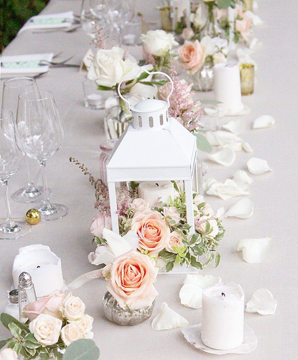 Romantic Wedding Table Centerpieces: 68 Romantic White Flower Centerpiece Decor Ideas