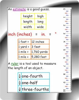 basic linear measurement study guide cheat sheet by joy. Black Bedroom Furniture Sets. Home Design Ideas