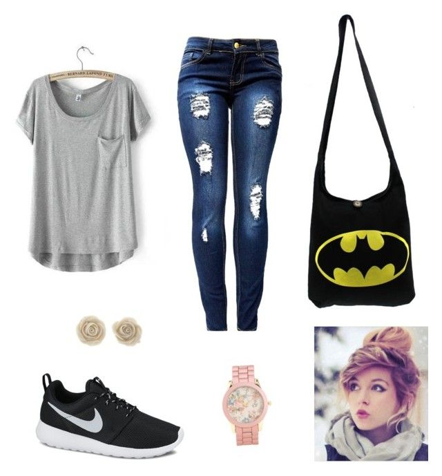 """Back to school outfit"" by raquelvillafan ❤ liked on Polyvore"