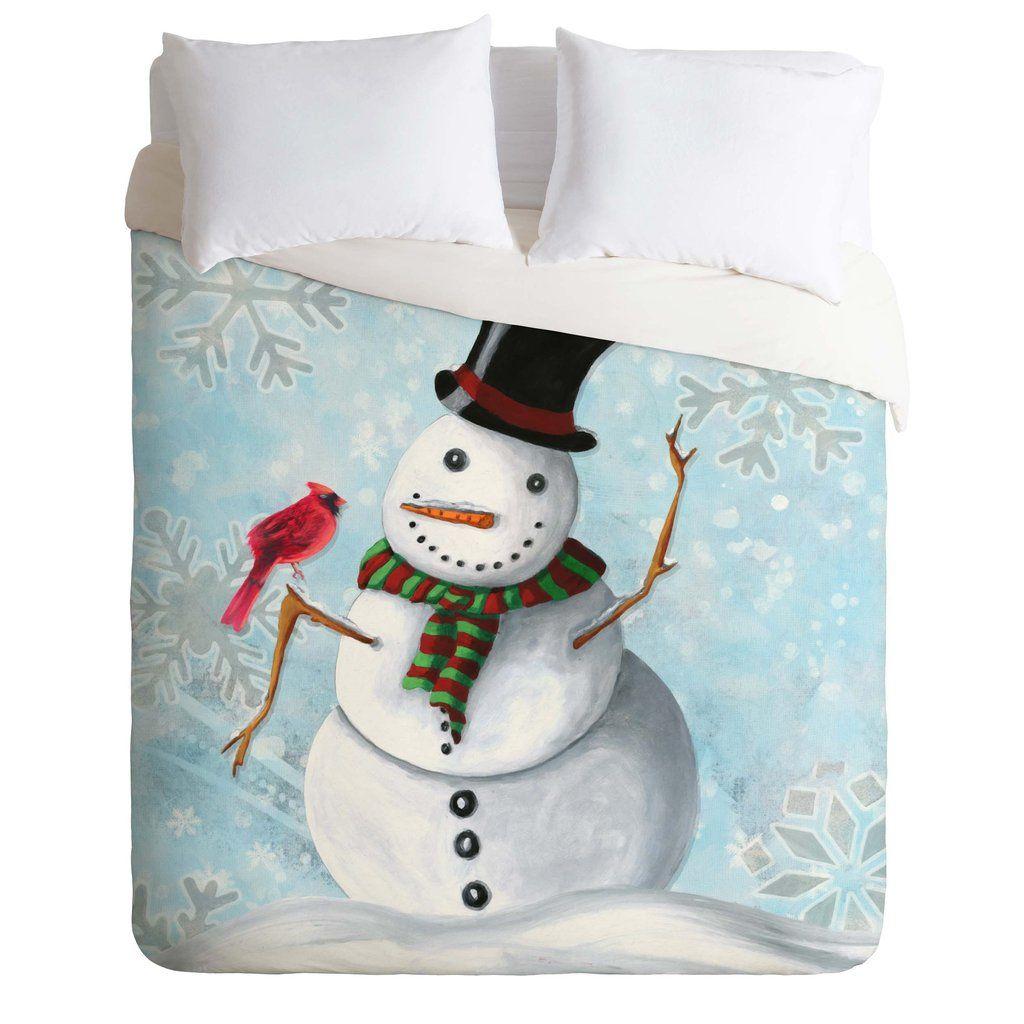 Madart Inc. Winter Cheer 1 Duvet Cover   DENY Designs Home Accessories