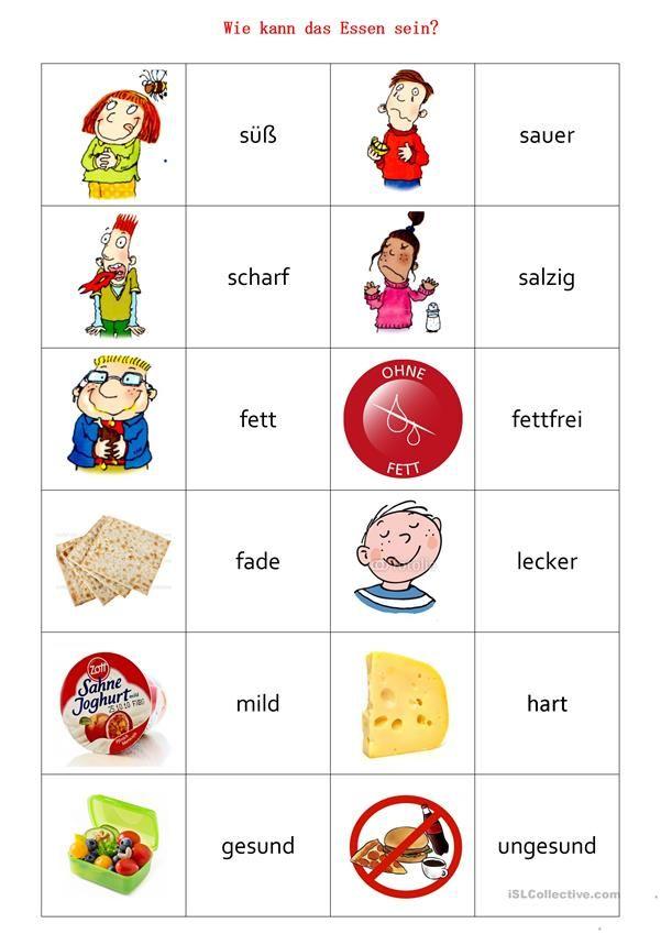 Memory-Spiel Wie kann das Essen sein | Hallo, Kinder, wir lernen ...