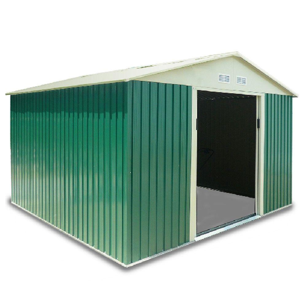 Habit Box Casetta Giardino Da Esterno Lamiera Zincata 261x301xh198cm  CLASSIC XL