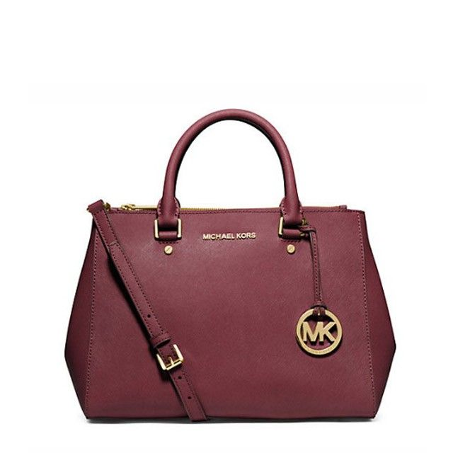 b2d3f3c5a0aa MICHAEL Michael Kors Sutton Medium Saffiano Leather Satchel Burgundy ...