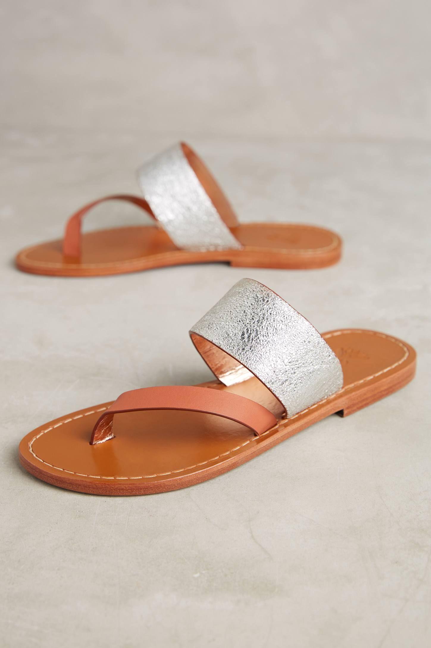 2981213e5916 Slide View  1  Sanchita Berberis Metallic Sandals