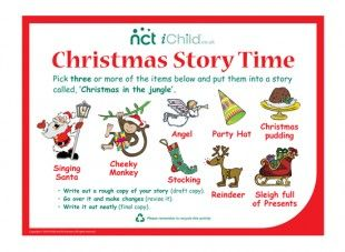 Here\'s a Christmas monkey story template, for the children to use at ...