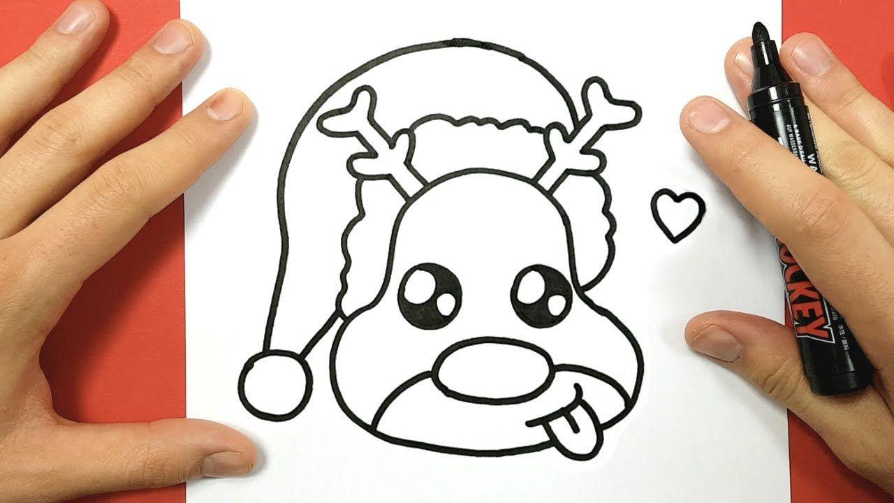 How To Draw Rudolph The Red Nosed Reindeer Cute And Easy Youtube Tekenen Voor Kinderen Kawaii Tekeningen Kawaii
