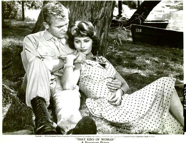 Tab Hunter, Sophia Loren -''That Kind of Woman'' 1959 by Movie-Fan, via Flickr