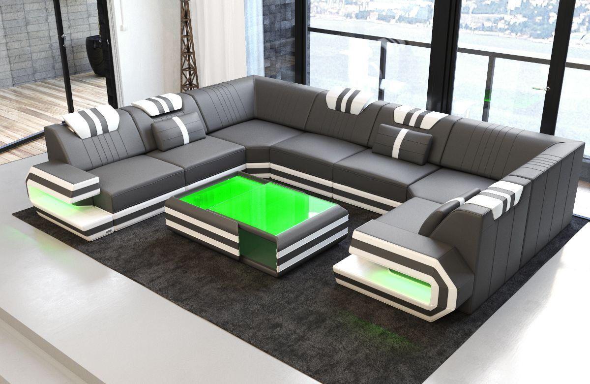 Wohnlandschaft Ragusa U Form Sofa Design Wohnen Sofa