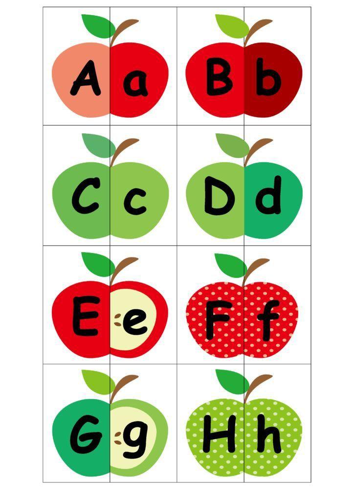 photo regarding Alphabet Matching Game Printable named APPLE ALPHABET MATCHING Sport Ideal of Malaysian Mother