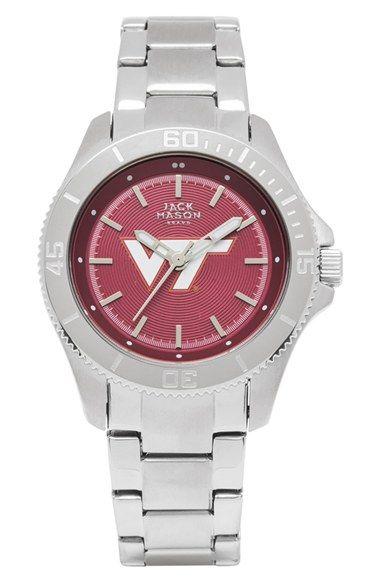 Jack Mason Brand 'Virginia Tech Hokies' Bracelet Watch, 38mm