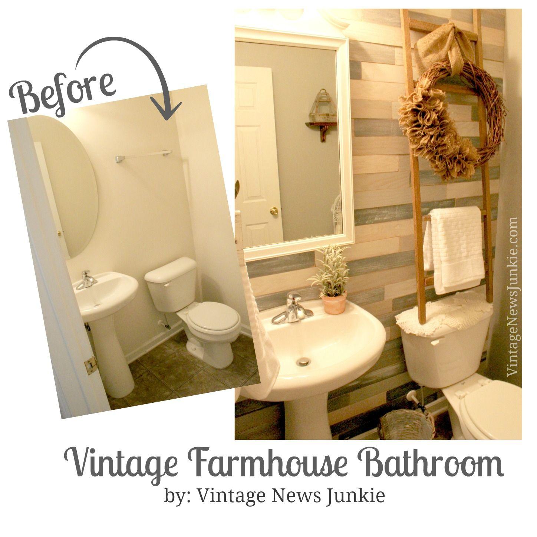 Vintage Farmhouse Bathroom Reveal {with a French Garden Feel ...