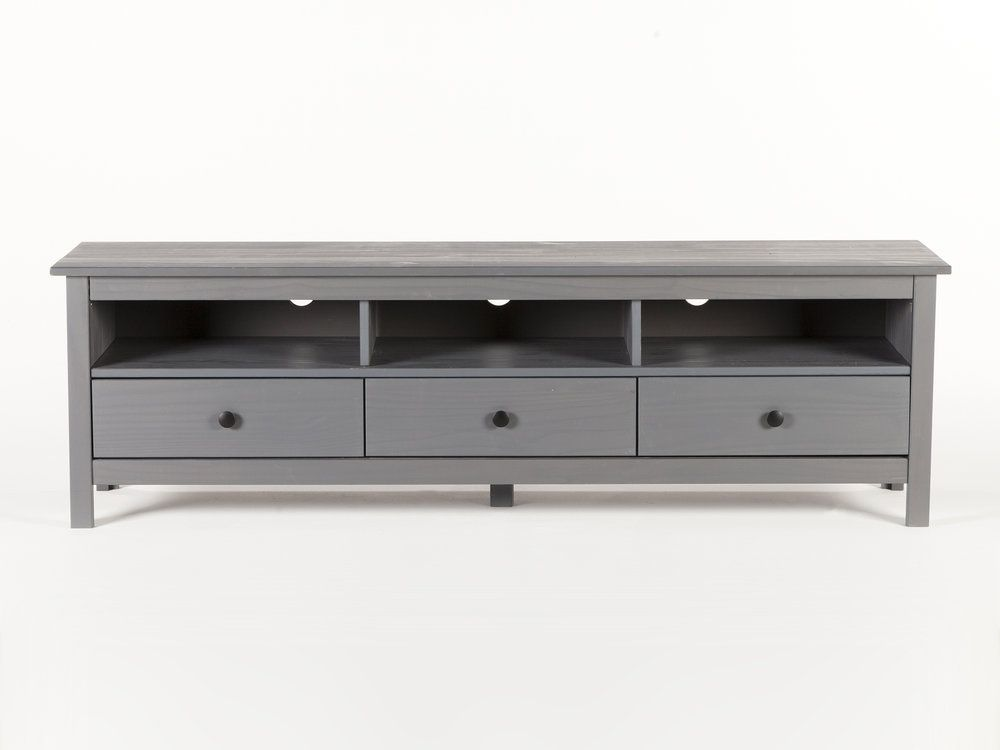 Meuble TV design 3 tiroirs et 1 niche centrale bois laqué L200cm