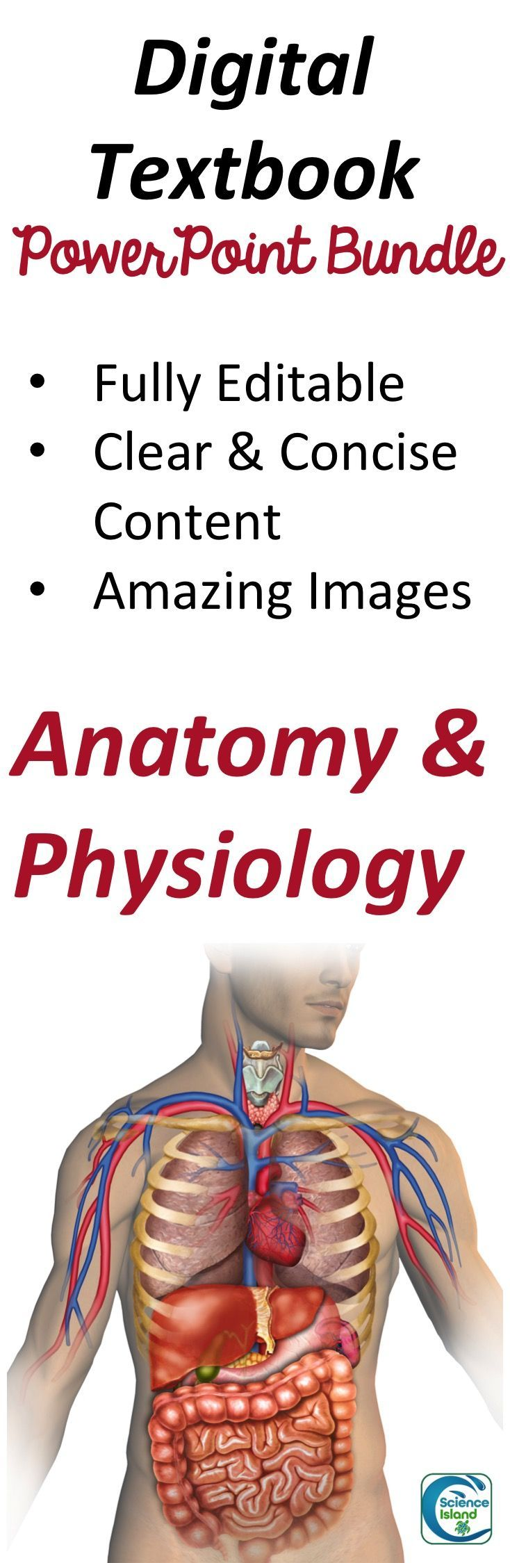 Anatomy and Physiology PowerPoint Bundle Digital Textbook | Science ...