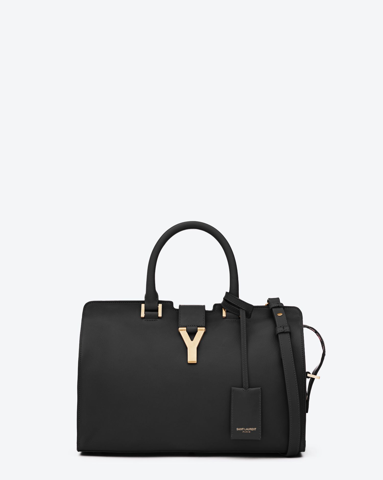 333432e6c2 Saint Laurent Classic Small Y Cabas Bag In Black Leather