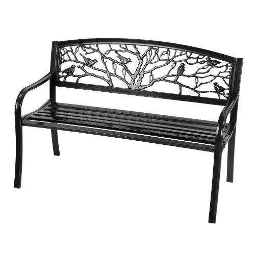 Astonica 50140860 Cast Iron Perched Bird Silhouette Bench