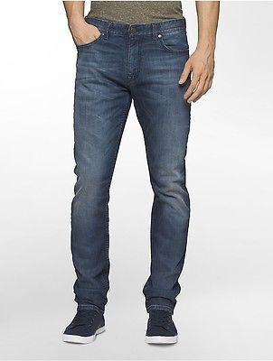 09fde8cf Calvin Klein Mens Slim Straight Turin Wash Jeans   Men's Jeans ...