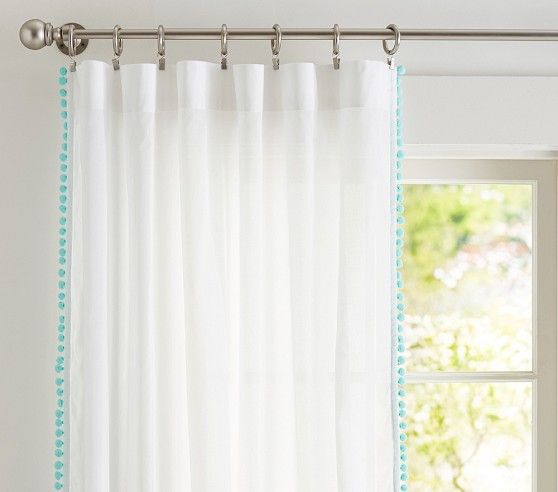 Pom Pom Sheer Curtain Closet Curtains Pom Pom Curtains