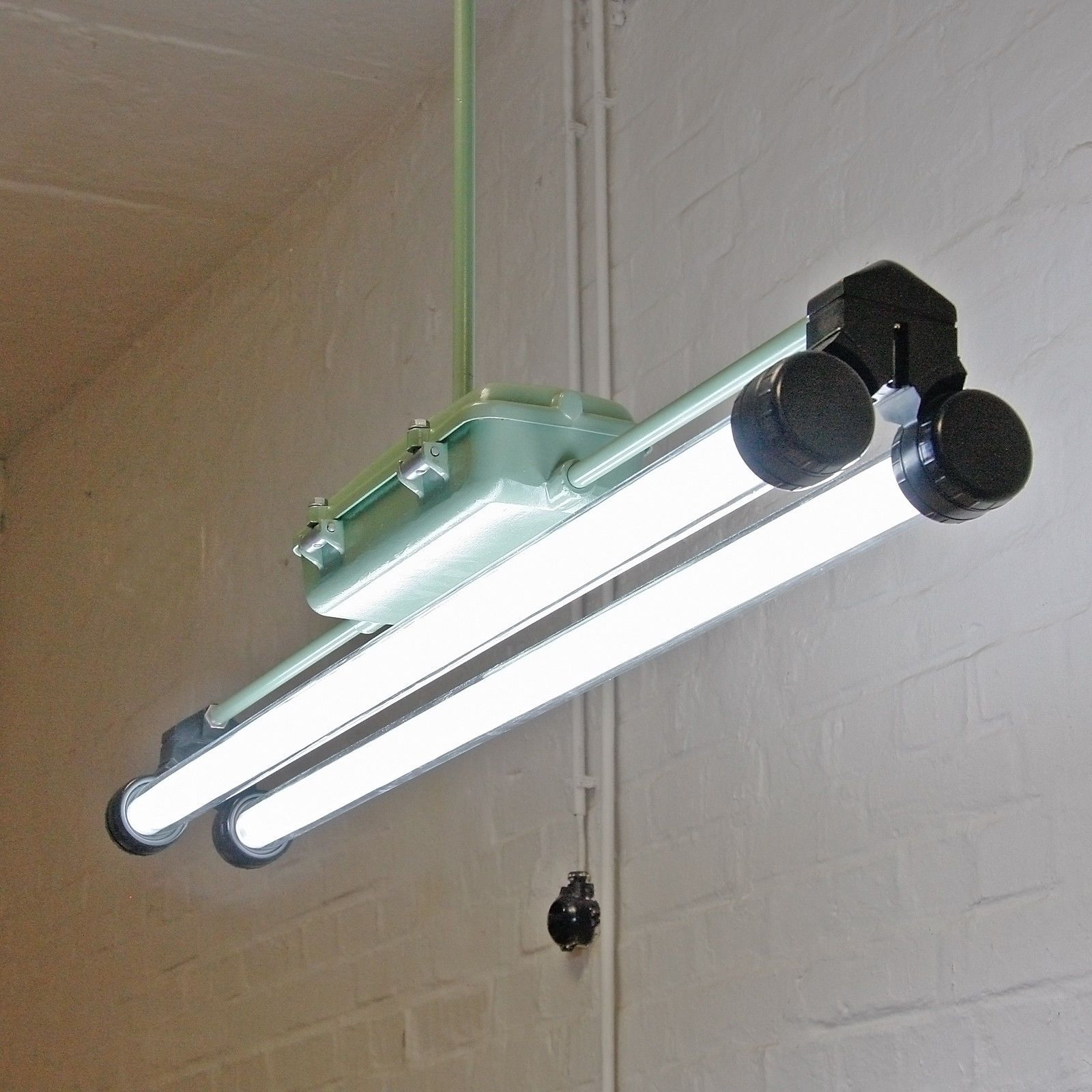Factory Lamp Industrial Design Lighting Office Fluorescent Antique Old Ddr Gdr Ebay Diy Industrial Lighting Industrial Lighting Industrial Lighting Design