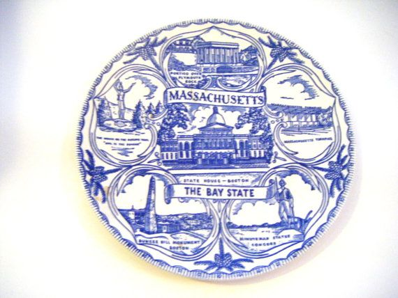 State of Massachusetts The Bay State Blue and White by parkledge, $20.00