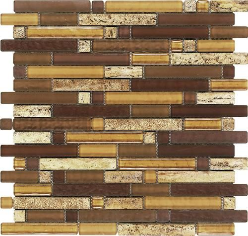 Epoch tile aligote random glass mosaic wall tile at for Menards backsplash