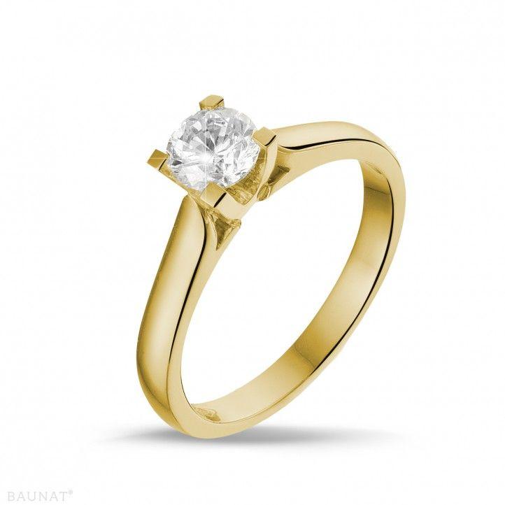 0.50 quilates anillo solitario diamante en oro amarillo   Anillo de ... d6e01eeac7