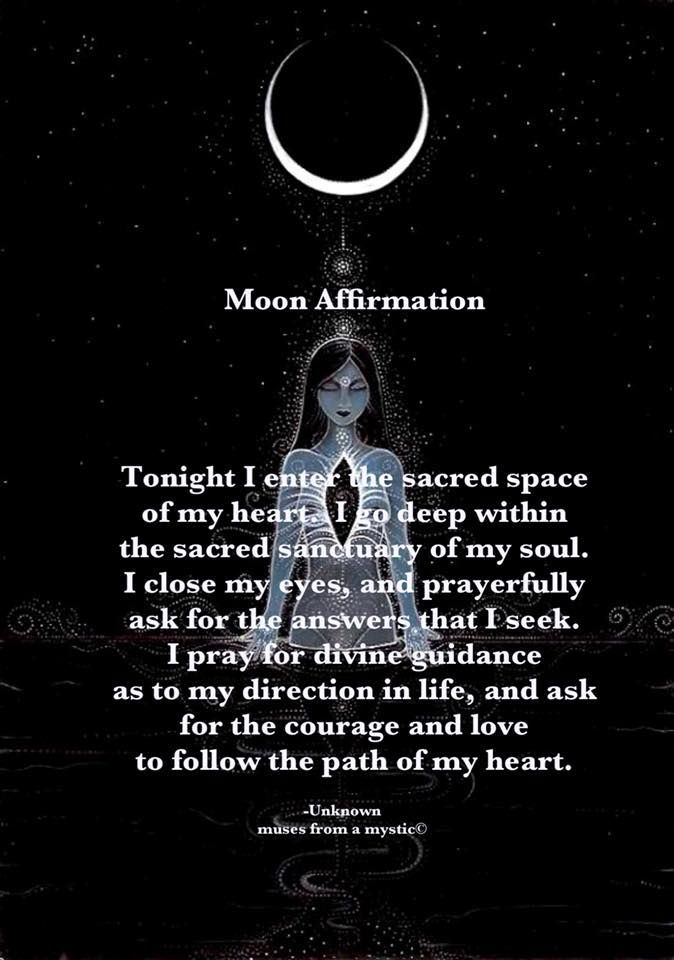 Moon Affirmation~Perfect for this upcoming Intense Full ...
