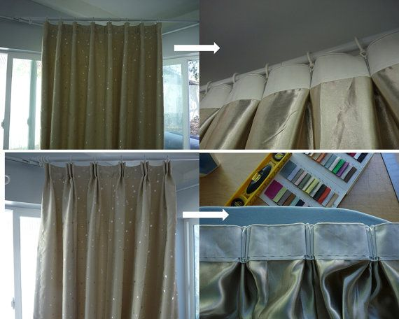 Easy Pinch Pleat Drapes Diy Kit Triple Double By Hookoncurtains 5 98 Diy Drapes Pleated Drapes Pinch Pleat Drape