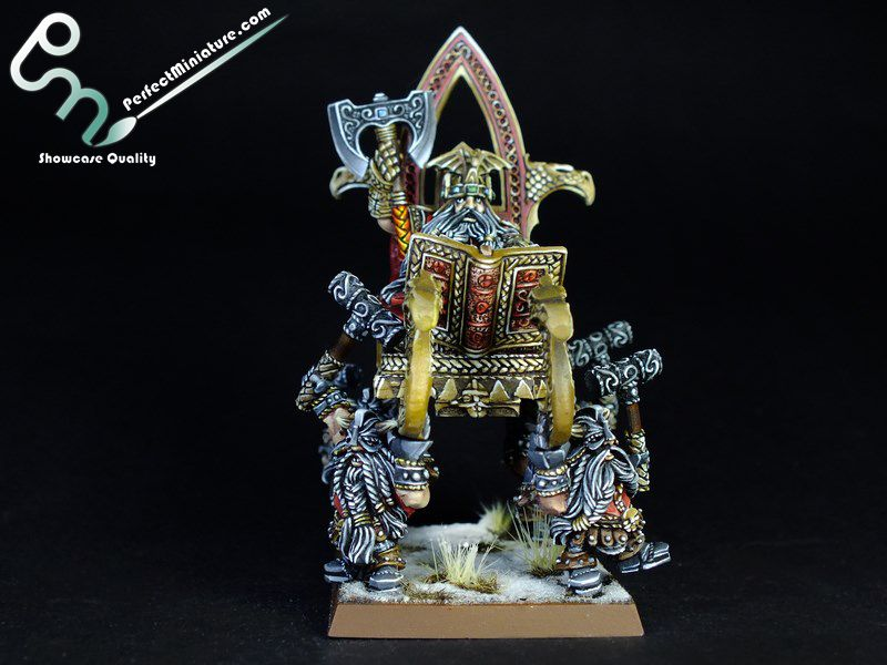 Dwarf Lord on throne painted by Perfect Miniature
