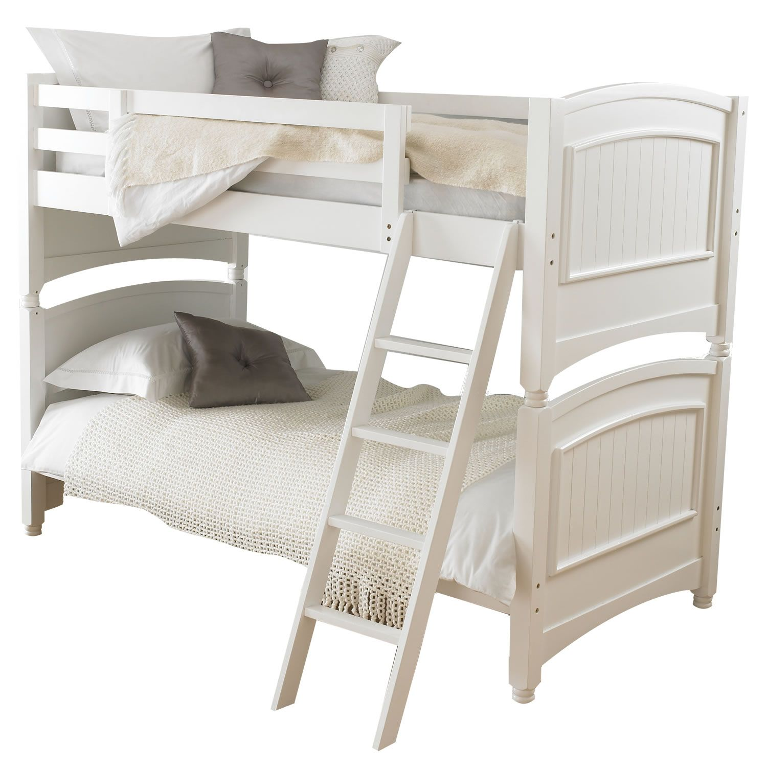 Lovely Colonial White Bunk Bed Frame A