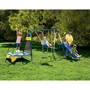 Jump N Swing 6 Leg Swing Set At Kmart Com Swing Set Backyard Trampoline Outdoor Fun For Kids