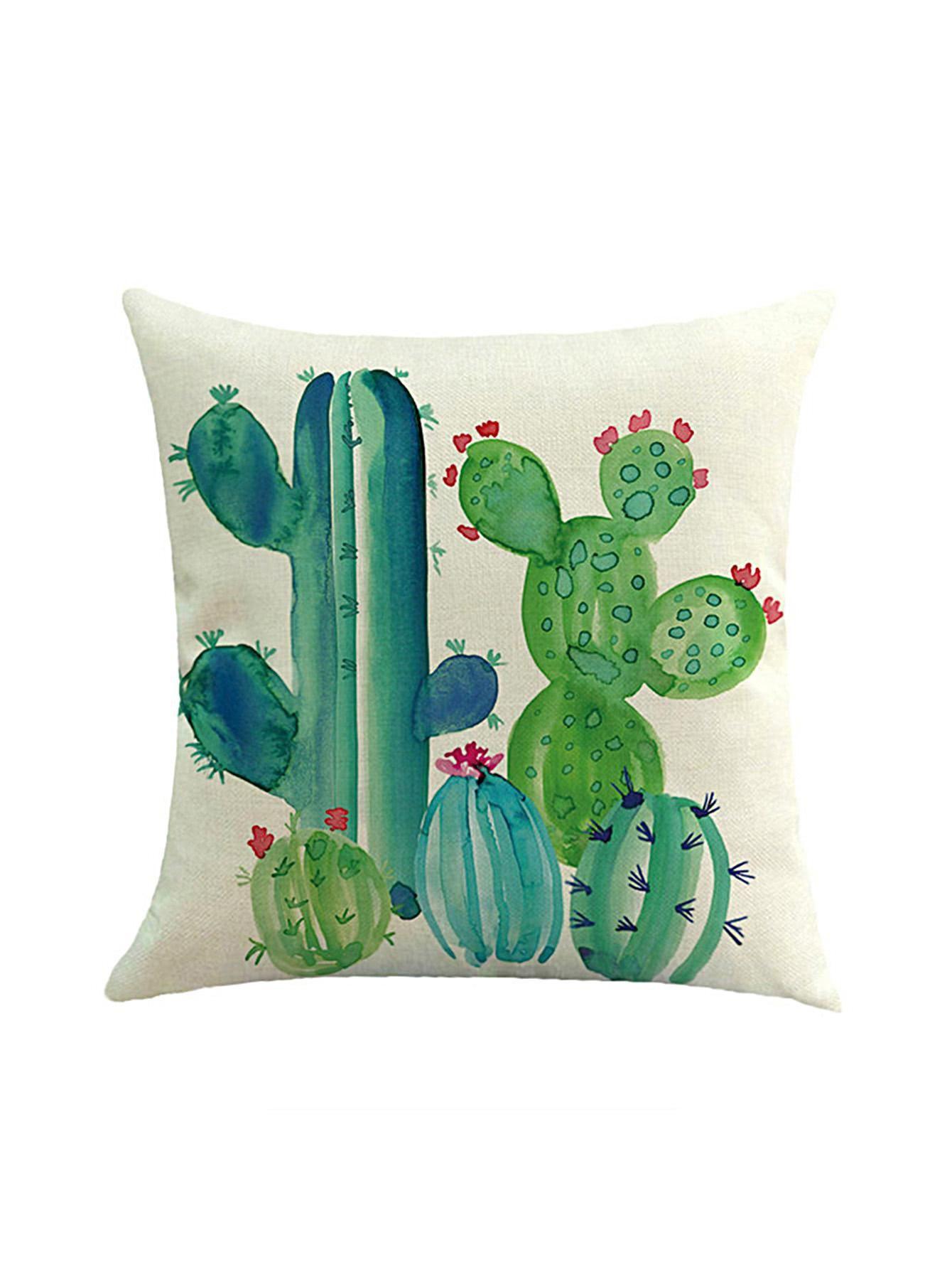 Romwe romwe cactus print cushion cover adorewe romwe