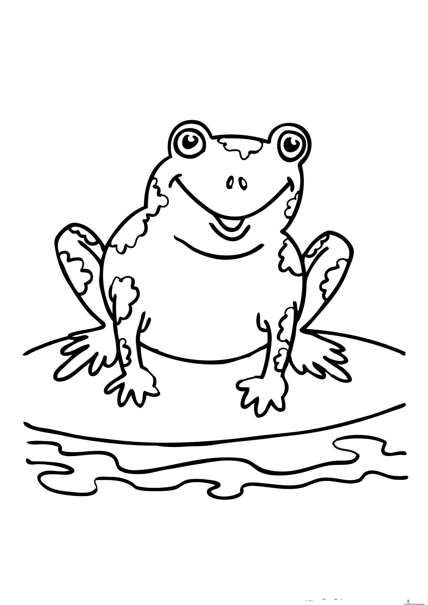 Frog Coloring Pages Printable Kids Colouring Gekimoe 10311