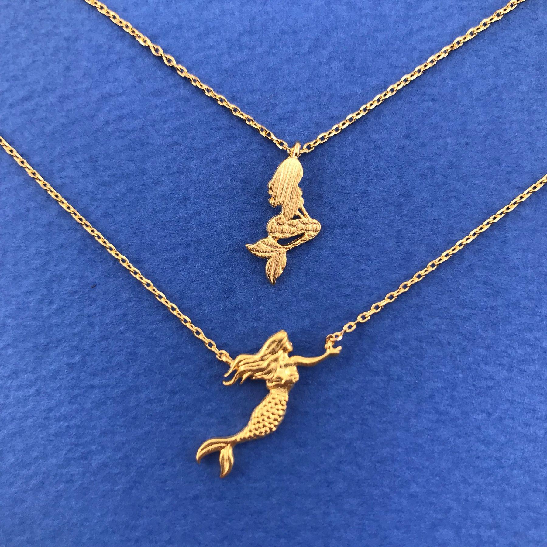Mermaid Pendant Sea Life Tail Fin Mermaid Tail Necklace Charm Necklace Jewelry Charm Necklace Beach