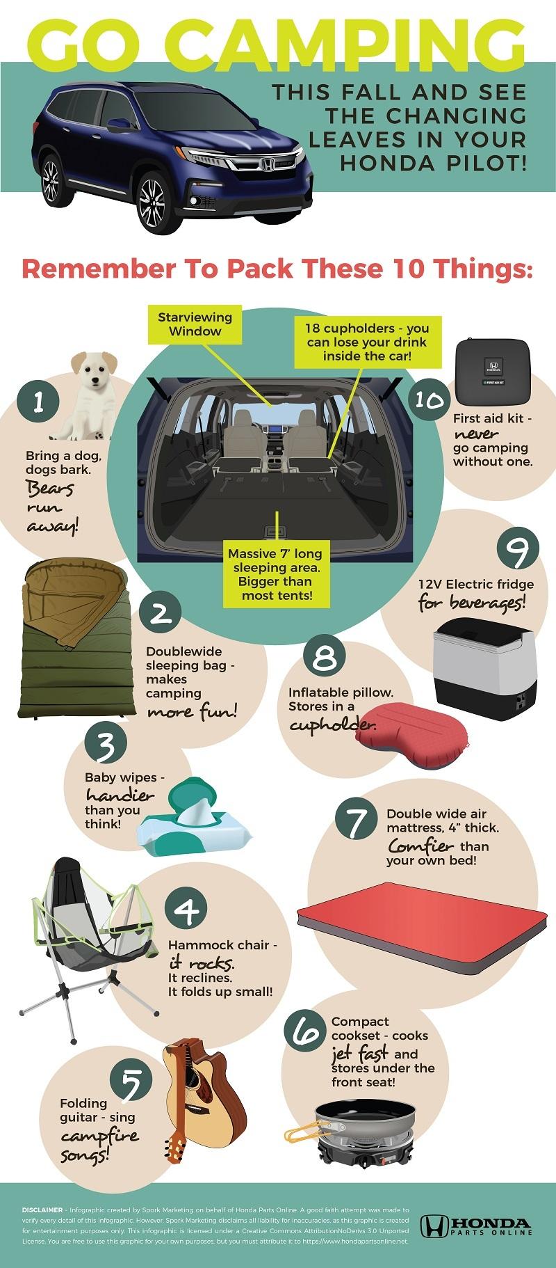 10 Things You Need To Car Camp In A Honda Pilot Honda Parts Online Blog Hondaparts Honda Pilot Suv Camping Car Camping