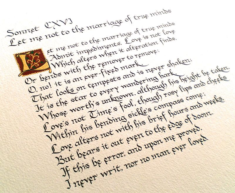 I Want This Sonnet To Be Read At Our Wedding Ceremony O No