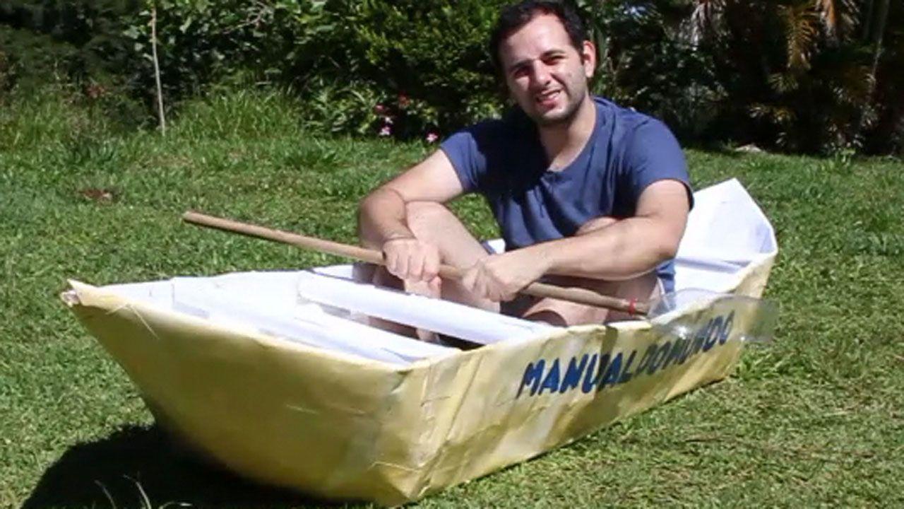 Como Fazer Um Barco De Papel De Dobradura Origami Gigante Para