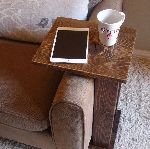 Sofa Chair Arm Rest Table Stand With Storage Pocket For Magazines Remotes Arm Rest Table Sofa Chair Family Room Walls