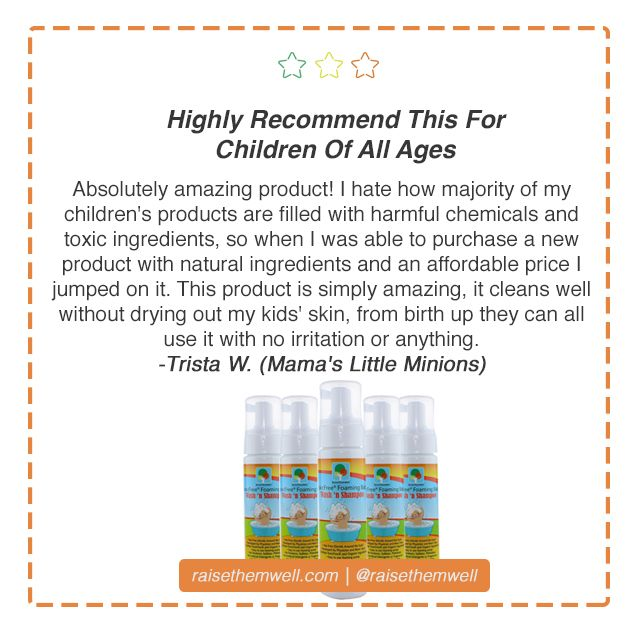 Majority of children's products are filled with harmful chemicals and toxic ingredients. Raise Them Well's Foaming Baby Wash contains only FIVE ingredients that are toxic free! And it's versatile, meaning everyone in the family can use it. #toxicfree #chemicalfree #noharshchemicals #babywash