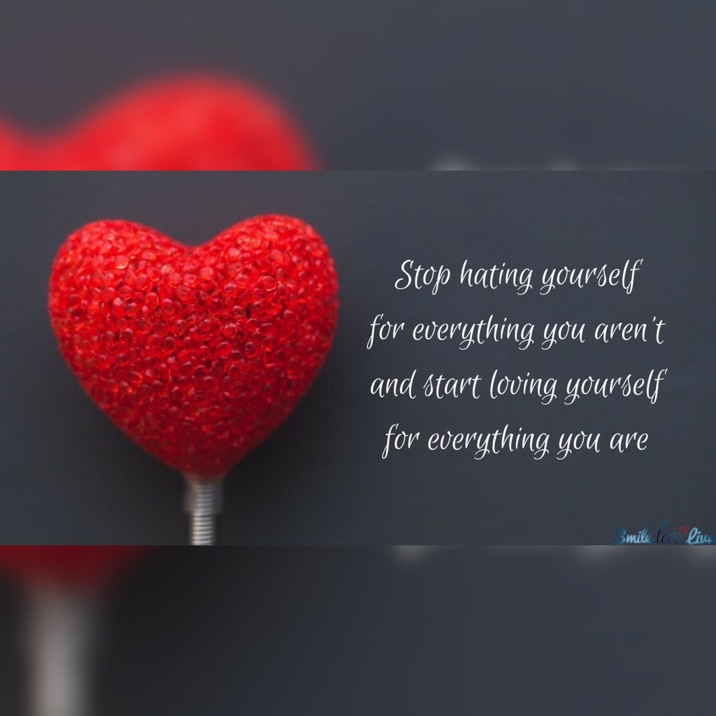 Loving Yourself Quotes Inspirational Quotes  Stop Hating Yourself For Everything You