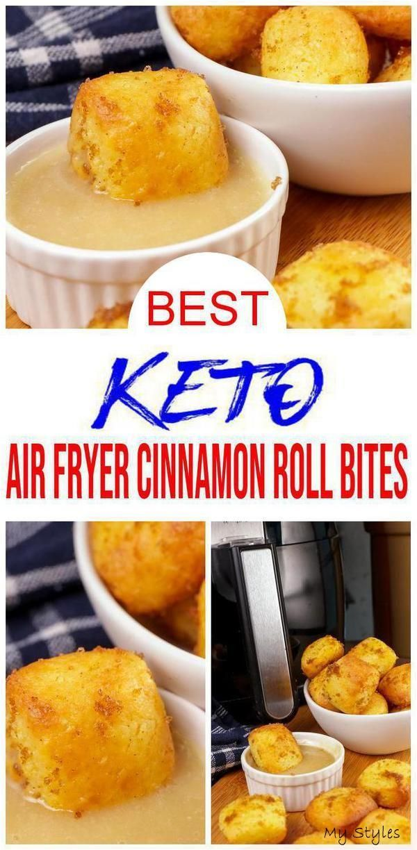 TASTY keto cinnamon roll bites you can make in the air