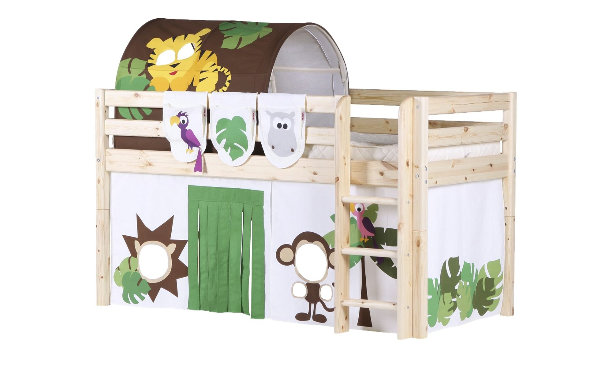 Flexa Halbhohes Bett Kiefer Flexa Bett Kinder Zimmer