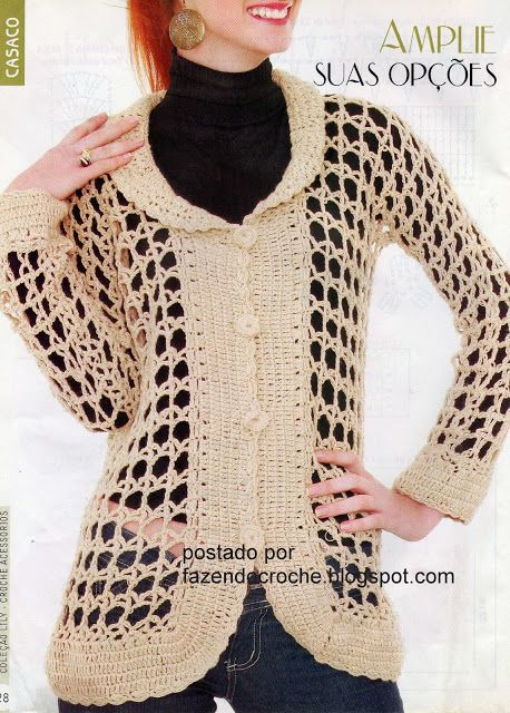Abrigos a crochet para mujer