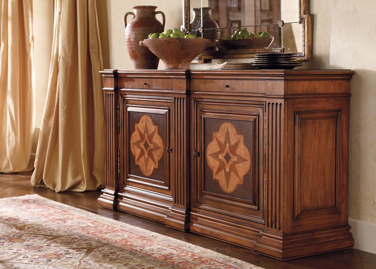 Lombardy marquetry sideboard ethan allen sg