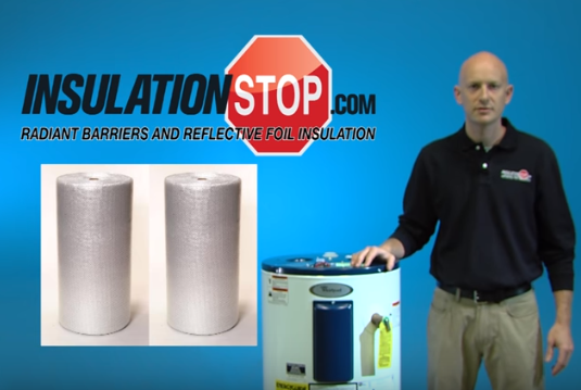 Need A Weekend Project Watch Nick Cover A Water Heater With Infrastop On Our Youtube Channel Reflective Foil Insulation Water Heater Blanket Foil Insulation