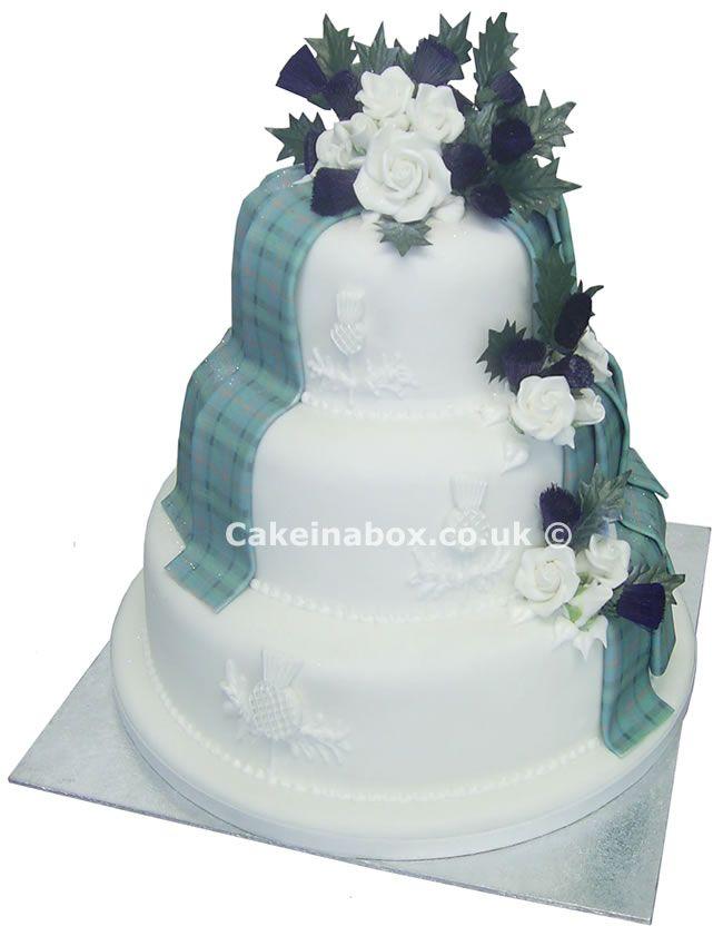 Floral Tartan Drape Cake   Dream cake, Cake, Celtic wedding